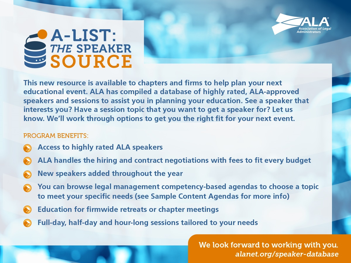A-LIst: The Speaker Source